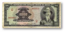 BRASIL - 10000 CRUZEIROS - ND ( 1966 ) - P 182B.a - Sign. 15 - Serie 8.ª - W/o Estampa ( 1A ) - Santos Dumont - Brésil