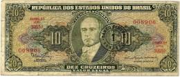BRASIL - 1 CENTAVO On 10 CRUZEIROS ND (1966 ) Error: Minstro P 183.a  Sign. 15 Serie 3059.ª Estampa 2A Getulio Varg - Brasil