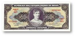 BRASIL - 5 CENTAVOS On 50 CRUZEIROS ND ( 1966 ) P 184.a ERROR Sign. 15 Serie 967.ª Estampa 2A Princesa Isabel - Brasile