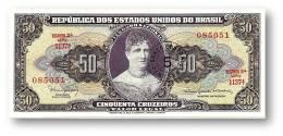 BRASIL - 5 CENTAVOS On 50 CRUZEIROS ND ( 1966 ) P 184.a ERROR Sign. 15 Serie 1137.ª Estampa 2A Princesa Isabel - Brasile