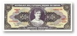 BRASIL - 5 CENTAVOS On 50 CRUZEIROS ND ( 1966 ) P 184.a ERROR Sign. 15 Serie 1137.ª Estampa 2A Princesa Isabel - Brazilië