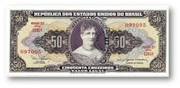BRASIL - 5 CENTAVOS On 50 CRUZEIROS ND ( 1966 ) P 184.a ERROR Sign. 15 Serie 1261.ª Estampa 2A Princesa Isabel - Brazil