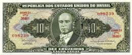 BRASIL - 1 CENTAVO On 10 CRUZEIROS ND (1967 ) - P 183.b - UNC. - Sign. 15 - Serie 3646.ª - Estampa 2A - Getulio Var - Brazil
