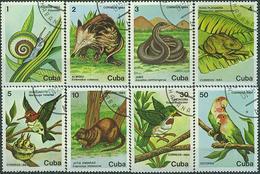 CUBA 1984, FAUNA, PROTECTED ANIMALS, COMPLETE USED SET, GOOD QUALITY - Cuba