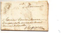 L.A.C. De PRADES (ROUSILLON) Pour PERPIGNAN Le 8/11/1718. - Poststempel (Briefe)