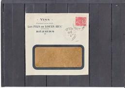 """Femme FACHI 50c  Sur Lettre De  BEZIERS  Le 27 4 1931 Entete Pub """" VINS Les FILS De LOUIS HUC """" - Advertising"""