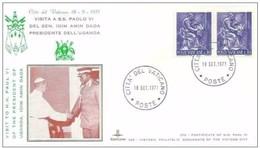 VATICANO -18 9 1971 SS PAOLO VI CONCEDE UDIENZA AL PRESIDENTE UGANDA AMIN DADA - Popes