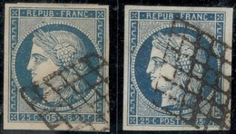 France Yvert 4 Et 4a Oblit Luxe Grandes Marges Sans Défaut Cote EUR 140+ (numéro Du Lot 16A) - 1849-1850 Cérès