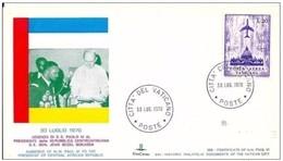 VATICANO - 30.7.1970 UDIENZA SS PAOLO VI A J.B BOKASSA PRES REP CENTRAFRICANA - Popes