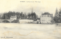 Auxerre - La Crue De 1910 - Villa Saïgon - Edition Toulot - Carte Non Circulée - Inondations