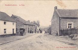 Hosdent-Latinne - La Place (animée, Automobile, Oldtimer, Edit Henri Kaquet, 1914....découpe Centrale Sur Côté Droit) - Braives