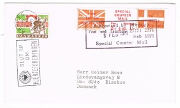 RB 1140 - 1971 GB Strike Mail - Special Courier Mail To Denmark - 1952-.... (Elizabeth II)