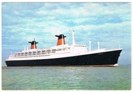 RB 1140 - J. Arthur Dixon Postcard - The French Line France - Ship Boat Maritime Theme - Paquebote