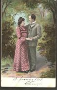 Angola. Les Amoureux. 10c Timbre Angola 1909 - Angola