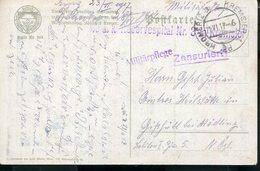 AUSTRIA CZECH WWI KROMERITZ KREMSIER KUK RESERVESPITAL  CENSORED POSTCARD - Cartas