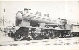 LOCOMOTIVE N° 3587  (ancien Retirage Photo,format Carte Ancienne) - Trains