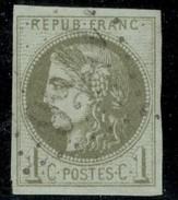 """France Yvert 39B TB Signé """"Calves"""" Sans Défaut Cote EUR 200  (numéro Du Lot 35G) - 1870 Emisión De Bordeaux"""