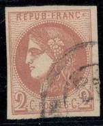 France Yvert 40B TB Sans Défaut Cote EUR 330  (numéro Du Lot 37G) - 1870 Emisión De Bordeaux