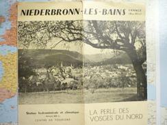 Niderbronn Les Bains / Bas Rhin Dépliants Des Années 1950 - Dépliants Turistici
