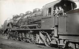 LOCOMOTIVE N°231-412 Chemins De Fer De L'état (ancien Retirage Photo,format Carte Ancienne) - Trains