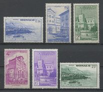 MONACO 1946 N° 275/280  Neufs ** = MNH Superbes Cote 12,50 € Vues De La Principauté Rade Bateaux Sailboat Cathédral