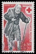 """France 1977. ~ YT 1959 - Croix-Rouge. Santon """"Chemineau"""" - Oblitérés"""
