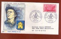 1 Enveloppe    - Premier Jour -   Congres Philatelique De Lens 1970 - FDC