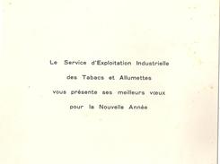 SEITA Tabacs Allumettes Carte De Bonne Année Ca 1966 - Documents Historiques