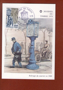 1 Carte    Journee Du Timbre 1978 St Paul Les Dax - FDC