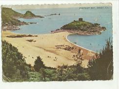 135586 CARTOLINA ROVINATA PORTELET BAY JERSEY - Inghilterra