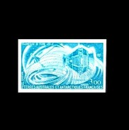 TAAF: 'Space Satellite Signe-3 - Imperforated, 1977', Mi. 121 U; Yv. PA.50 ND; Sc. C53 Imperf **
