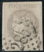"""France Yvert 41B TB Signé """"Calves"""" Sans Défaut Cote EUR 325  (numéro Du Lot 39G) - 1870 Emisión De Bordeaux"""
