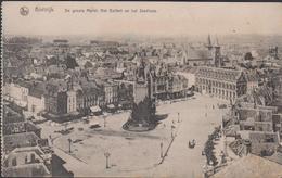 Oude Postkaart Kortrijk De Groote Markt Het Belfort En Het Stadhuis Grote - Kortrijk