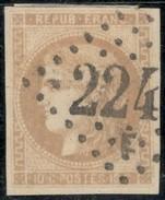 France Yvert 43A TB Sans Défaut Cote EUR 80  (numéro Du Lot 42G) - 1870 Emisión De Bordeaux