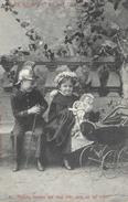 Couple D'enfants: Petite Nounou Et Galant Cuirassier: 1 - Madame, Que Vous Avez Donc Un Bel Enfant - Carte Non Circulée - Enfants