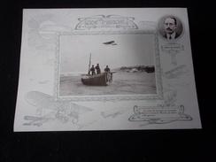 Aviation. Grand Chromo  Légèrement Cartonné 18 X 25.Lesseps Sur Monoplan Blériot.Voir 2 Scans. - Chromos