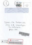 Congo 2012 Brazzaville Explorer Brazza Monument 1000f Barcoded Registered Cover - Congo - Brazzaville