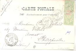 NOUMEA NOUVELLE CALEDONIE CPA CANAQUE CIRCULEE 1904 A PHILIPPEVILLE CONSTANTINE ALGERIE RARISIME DEPICTING NATIVE - Neukaledonien