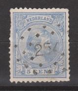 NVPH Nederland Netherlands Pays Bas Holanda 35 CANCEL HEEMSTEDE 254 Koningin Queen Reine Reina Wilhelmina 1891 - Gebruikt