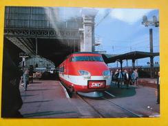 TGV 001 Prototype -gare Bordeaux Saint-Jean - 1975 - éditions Baliziaux - Trains