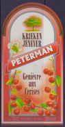 BELGIË/BELGIQUE : ## PETERMAN ## Kriekenjenever / Genièvre Aux Cerises :  BRUGGEMAN,KRIEK,CERISE,CHERRY, - Labels
