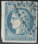 France Yvert 45A A TB Sans Défaut Cote EUR 140  (numéro Du Lot 47G) - 1870 Emisión De Bordeaux