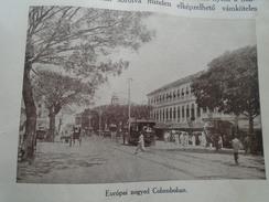 IND.29 Old Print  CEYLON -Colombo -European Quarter -  Quartier Européen -   1926 Hungarian Travel Book - Old Paper