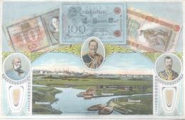 BILLETS DEUTSCHLAND RUSSLAND OSTERREICH TRIPLE FRONTIER DEIKALSERREICHSECKE TRIPLE FRONTERA MIX FRANKING 1912 TRES BON E - Munten (afbeeldingen)