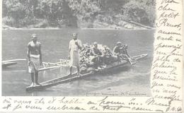 PIROGUE CANAQUE CPA PRECURSEUR NOUVELLE CALEDONIE A PHILIPPEVILLE CONSTANTINE ALGERIE AN 1912 WARRIORS ON CANO - Nieuw-Caledonië