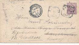 NED.-INDIE / INDIA NEDERLANDAISE - BATAVIA - 1900 , Brief Nach Manchester , Weiter Nach Mönchen-Gladbach - Niederländisch-Indien