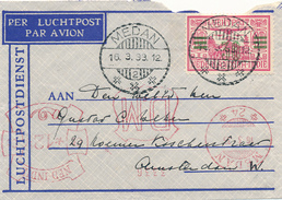 NED.-INDIE / INDIA NEDERLANDAISE - MEDAN - 1933 , Brief Nach Amsterdam - Zusätzlich Freistempel - Niederländisch-Indien