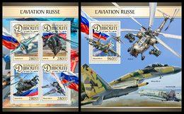 DJIBOUTI 2016 - Russian Air Force - YT 1292-5 + BF 131; CV=41 € - Vliegtuigen