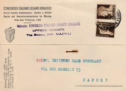5755.   Consorzio Italiano Leganti Idraulici - Napoli - Commerciale - 1942 Per Istituto Case Popolari - Bagnoli - Commercio