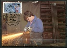 "Germany,Westberlin 1986 Maxicart,MC Mi.Nr.755 ""Handwerksberufe,Schlosser,Jugendmarke"" 1MK Used - Factories & Industries"